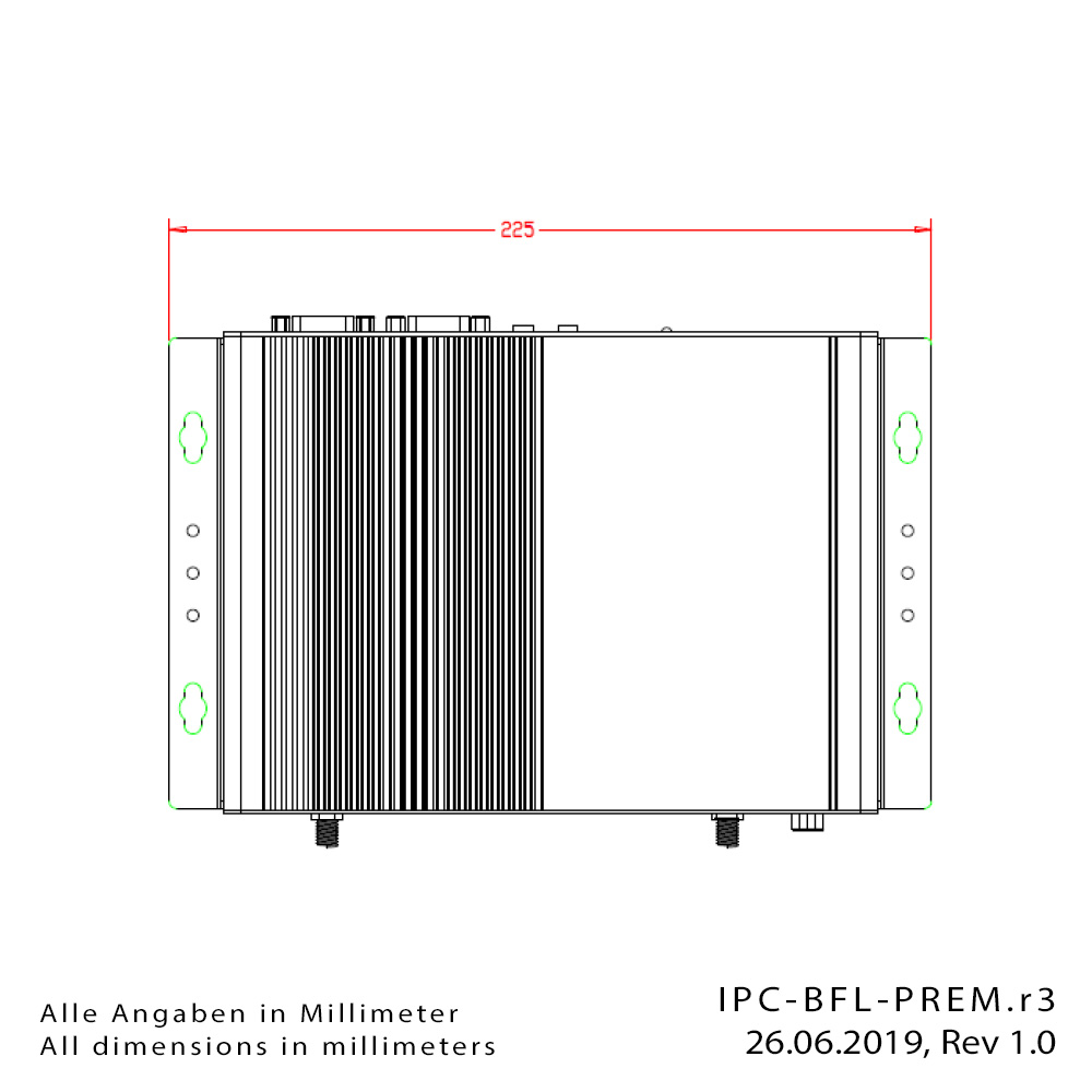 [Translate to Englisch:] Box-PC IPC-BFL-PREM-Drawing1